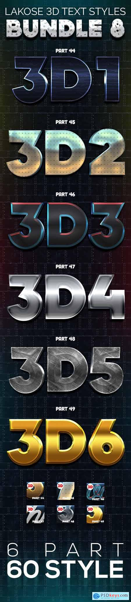 Lakose 3D Text Styles Bundle 8 26527596