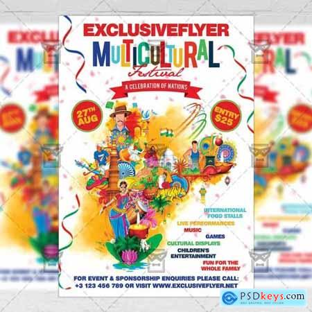 Multicultural Festival - Club A5 Flyer Template