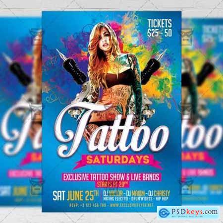 Tattoo Saturdays Flyer - Club A5 Template