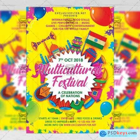 Multicultural Festival Flyer - Club A5 Template