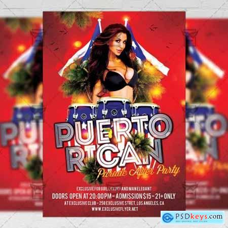 Puerto Rican Parade After Party Flyer - Community A5 Template