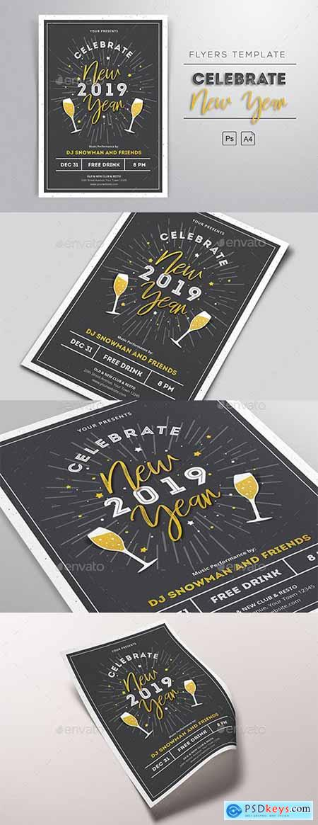 New Year 2019 Flyers 22977993