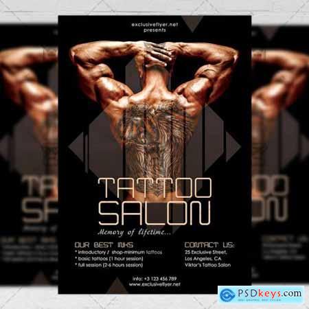 Tattoo Salon Flyer – Business A5 Template