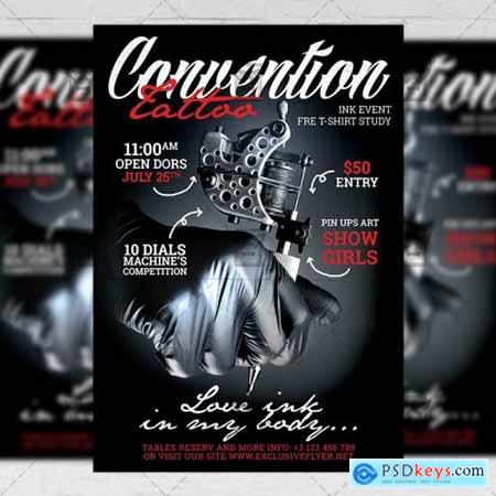 Tattoo Convention Flyer – Club A5 Template