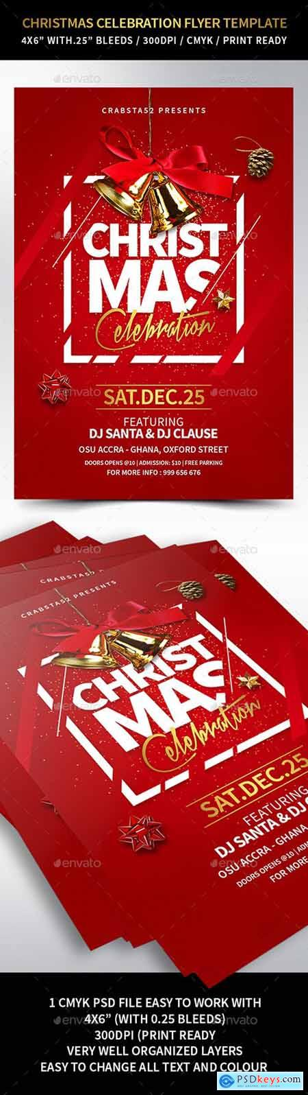 Christmas Celebration Flyer Template 22931714