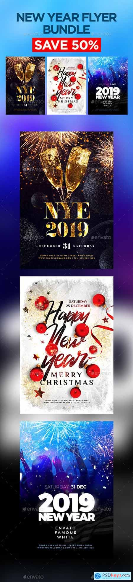 New Year Flyer Bundle 22930630