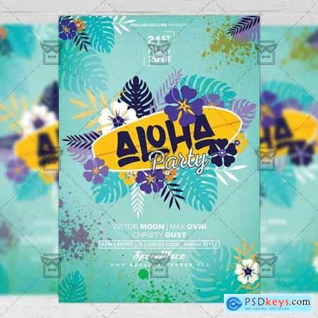 Aloha Party Flyer - Seasonal A5 Template