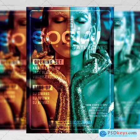 Social Saturdays Flyer - Club A5 Template