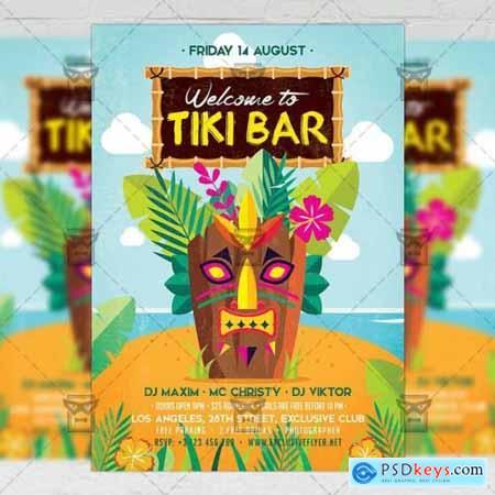 Tiki Bar Flyer - Seasonal A5 Template