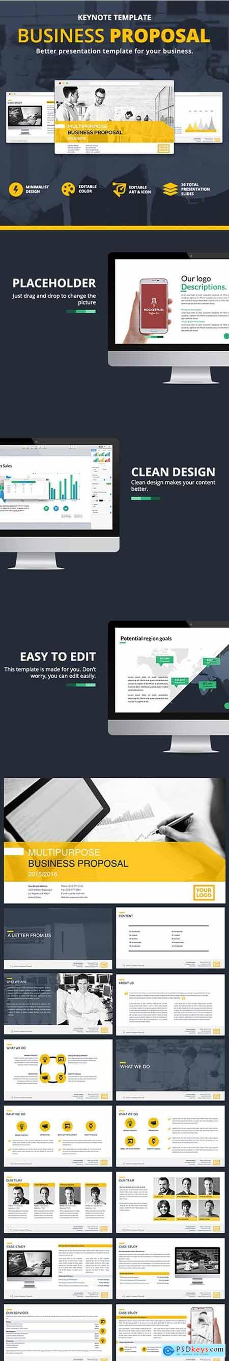 Business Proposal Keynote 12624296