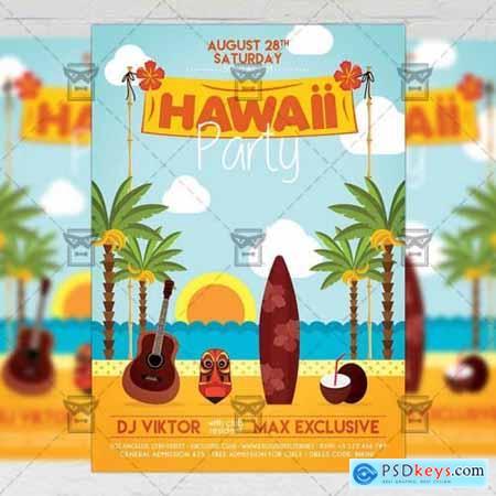 Hawaii Night Flyer - Seasonal A5 Template