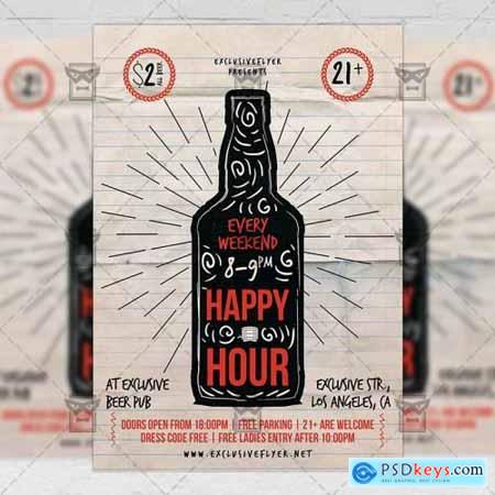 Happy Hour Flyer - Food A5 Template