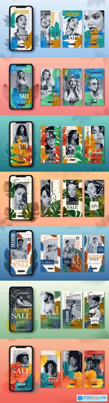 Fashion summer sale post on Instagram smartphone design