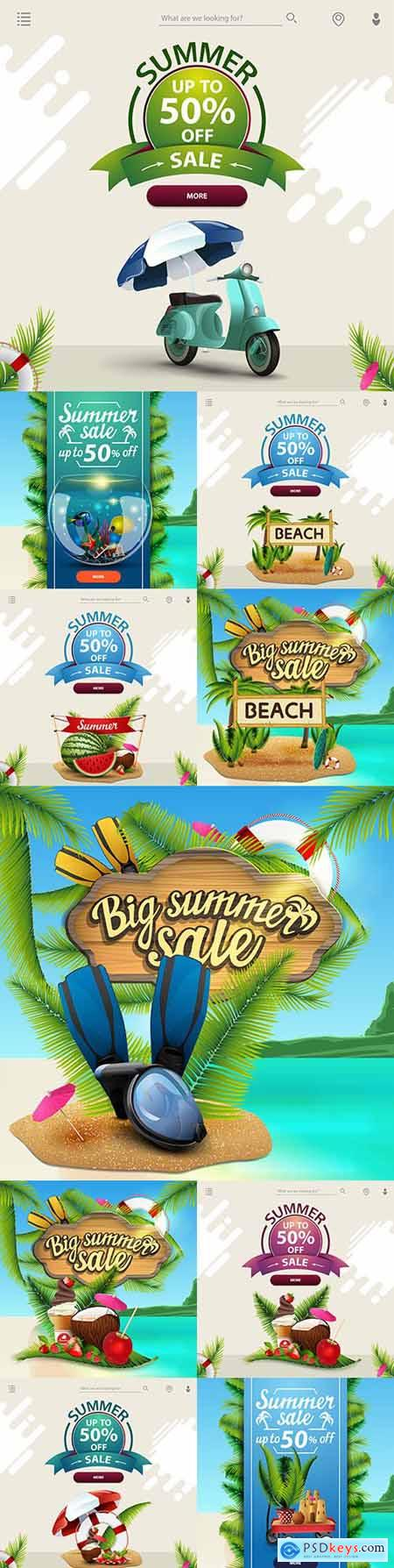 Summer sale and discount template for your business