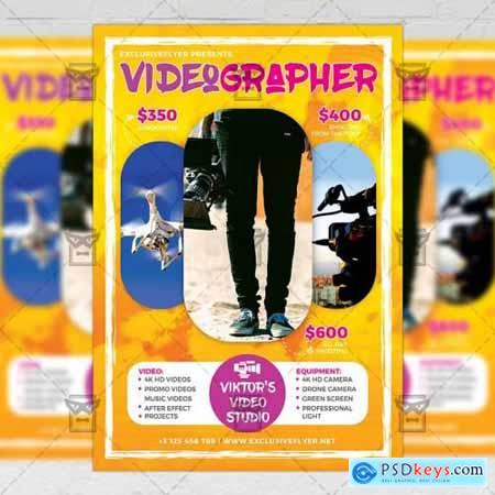 Videographer - Business A5 Flyer Template