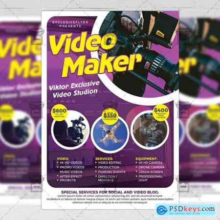 Videomaker - Business A5 Flyer Template