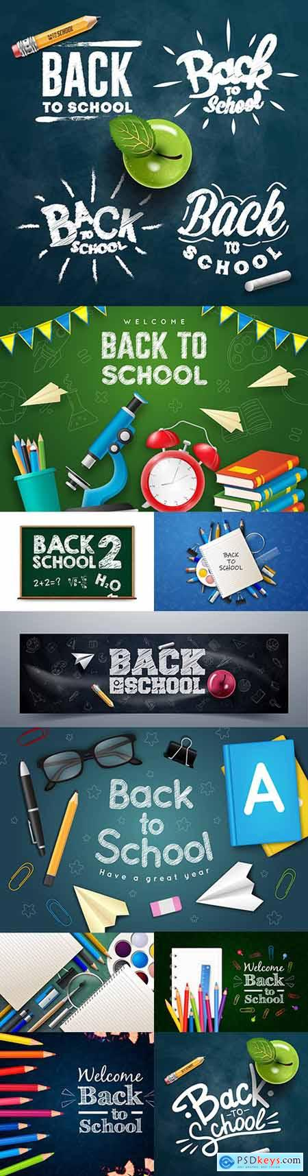 Back to school and accessories collection illustration 45