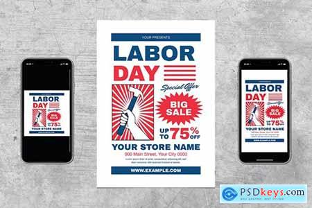 Labor Day Sale Flyer Set