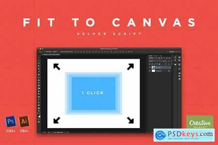 Fit to Canvas Script for PS and Ai 219737