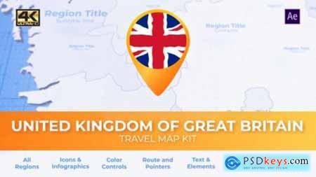 United Kingdom of Great Britain Map United Kingdom Travel Map 27803206