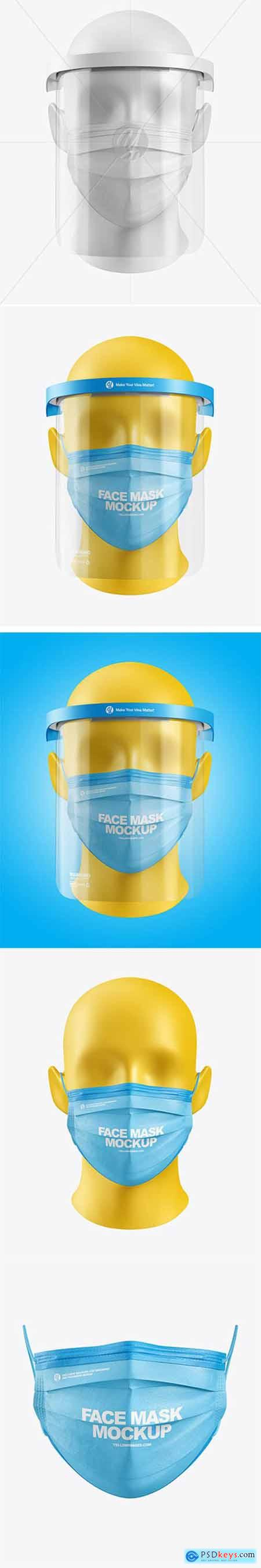 Face Mask & Face Shield Mockup 64074