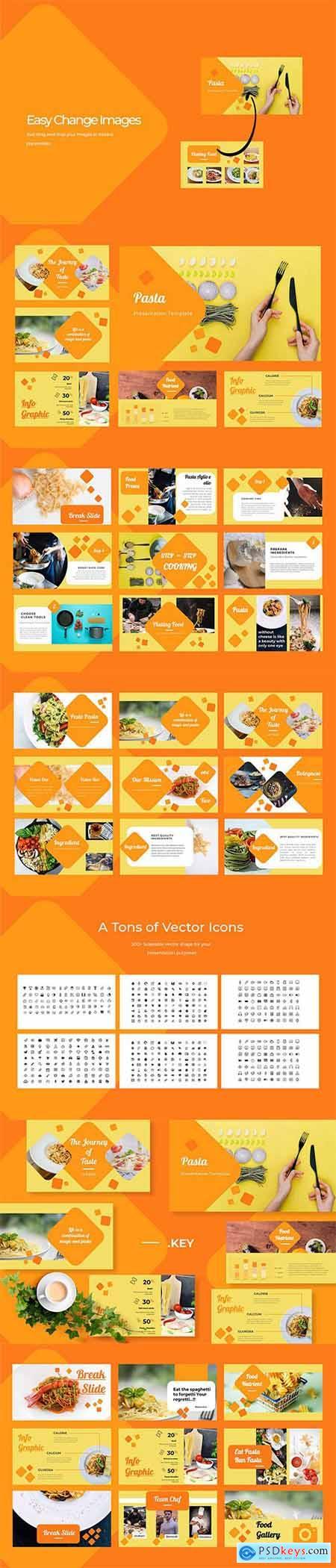 Pasta Restaurant Powerpoint, Keynote and Google Sliders Template
