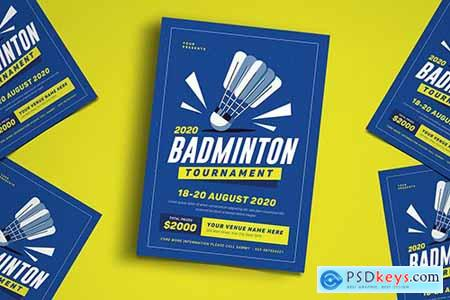 Badminton Tournament Event Flyer