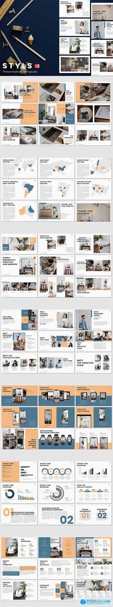 STYLS - Powerpoint, Keynote and Google Sliders Template