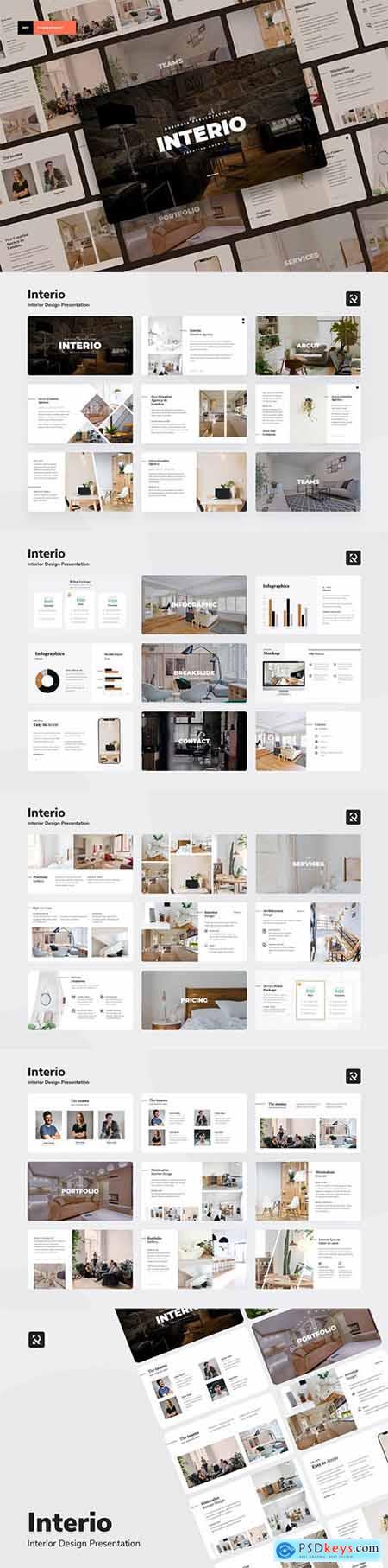 Interio - Interior Design Powerpoint, Keynote and Google Slides