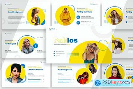 Pablos - Creative Agency Powerpoint, Keynote and Google Slides