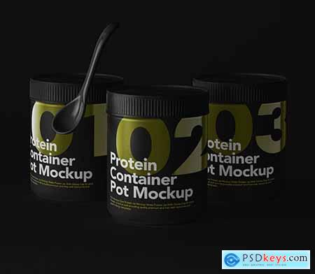 Protein Psd Container Mockup Set