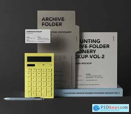 Stationery Psd Folder Mockup Vol 2
