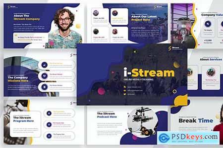 iStream - Media Streaming Powerpoint, Keynote and Google Slides