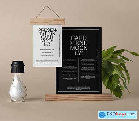 Restaurant Psd Menu Mockup Set