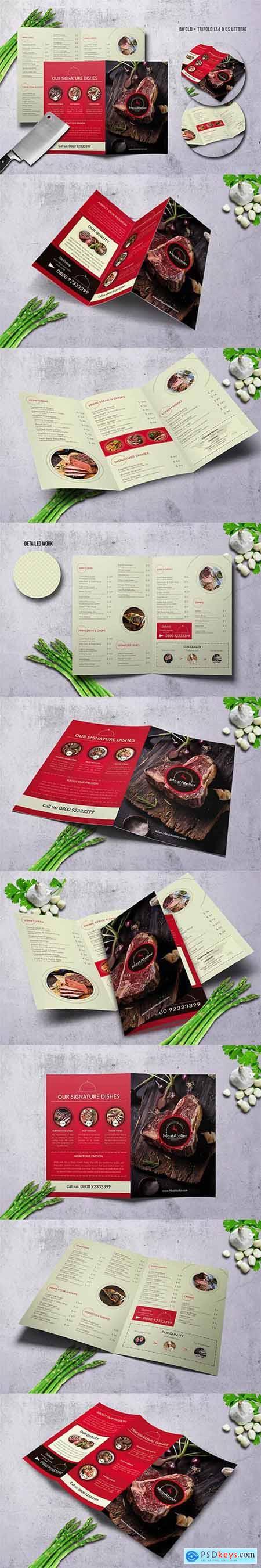 Meat Atelier Menu Bundle (A4 + US Letter)