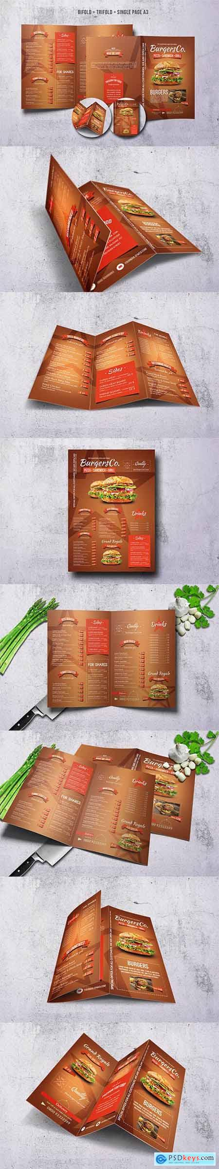 American Burgers Menu Bundle