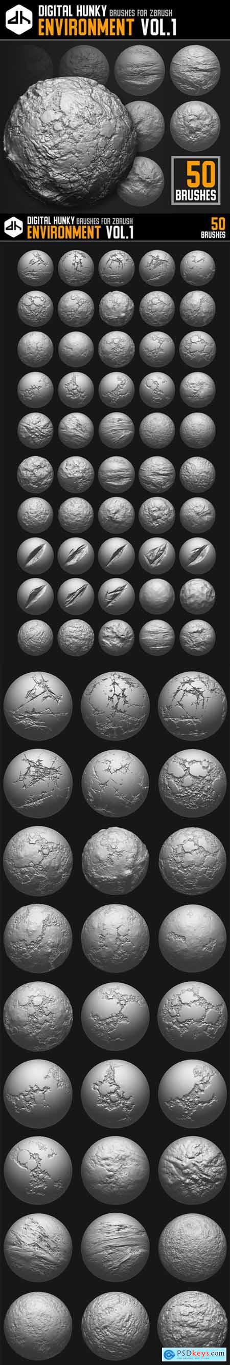 Environment Brushes Vol.1 for ZBrush