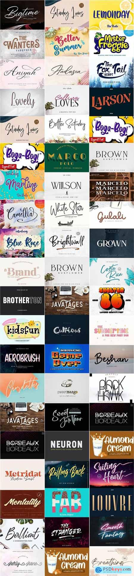 54 New Fonts Collection
