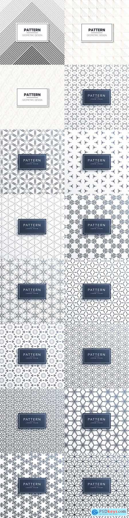 16 Seamless Patterns - Vector Graphics