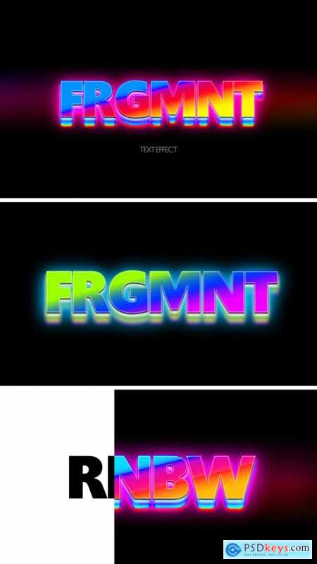 Colorful Rainbow Text Effect Mockup 367557021