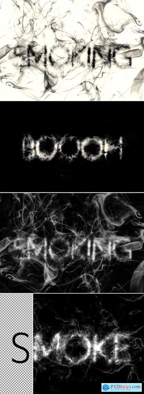 Realistic Smoke Text Effect Mockup 367557463