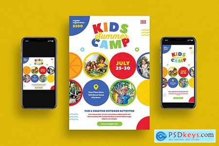 Kids Summer Camp Flyer Set