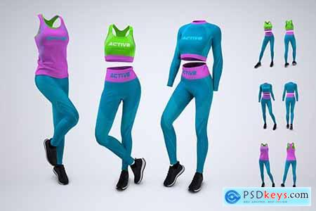 Womans Workout Outfit Mock-Up