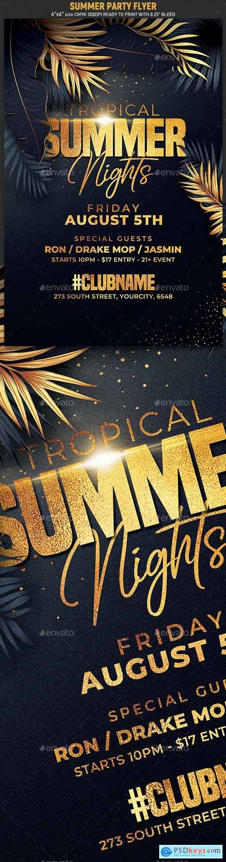 Classy Summer Party Flyer 24121415