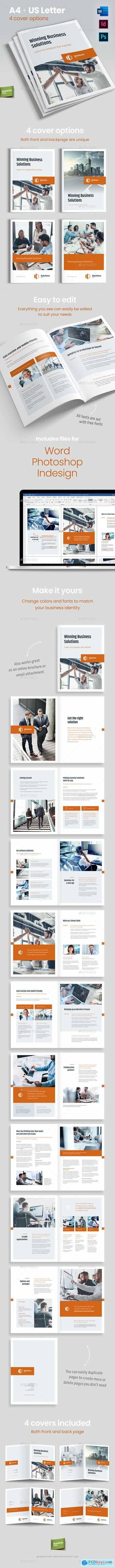 Solutions Inc – Brochure Template for Indesign, Photoshop and Word 24904739