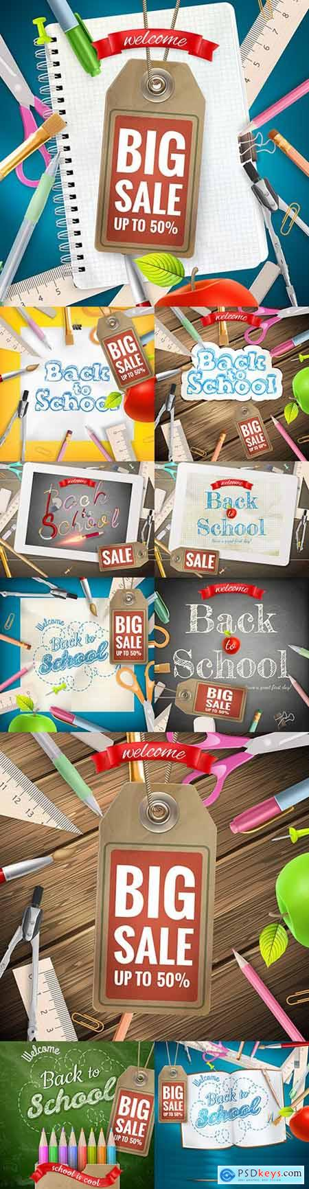Back to school and accessories collection illustration 47
