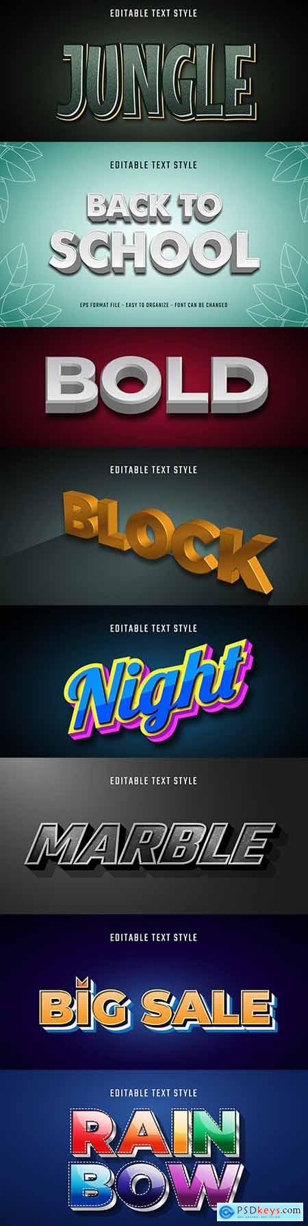 Editable font effect text collection illustration design 154