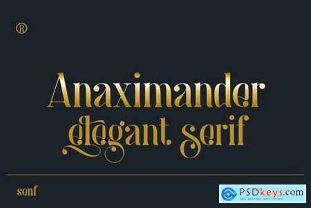 Anaximander Serif Font 5212179