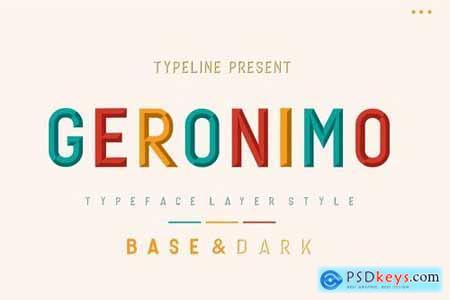 Geronimo Typeface Layer
