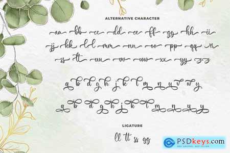 Maylena a Romantic Script Font
